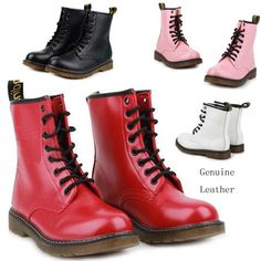 Women fashion leather Martin boots tendon at the end women genuine leather shoes womens ankle boots women motorcycle boots 29