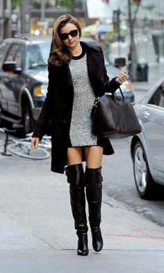 Look de Inverno: Vestido + Over The Knee