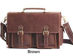 Handmade Leather Satchel Bag, Leather Messenger Bag, Leather Laptop Bag