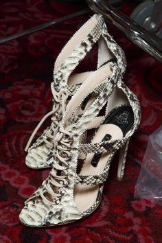 Julien Macdonald at London Spring 2015 (Backstage) - Find 150+ Top Online Shoe Stores via http://AmericasMall.com/categories/shoes.html