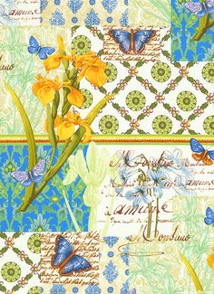 Serenity - Garden Amore -Quilt Fabrics from www.eQuilter.com