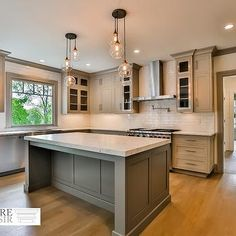 Really like the lights.   Transitional, Kitchen