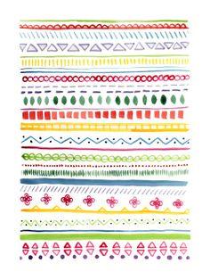 aztec patterns // Flora Fricker