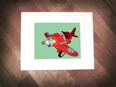 Vintage Aircraft  wall art series 8x10 by neuneubooboo on Etsy, $45.00