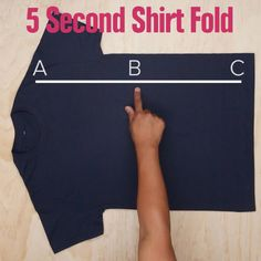 Here Is One Trick To Fold Your Shirts That Will Save You Some Time