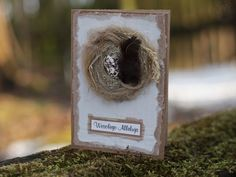 Eco Easter card with bird nest Easter Card, Bird Feeders, Bottle Opener, Nest, Decorations, Outdoor Decor, Cards, Home Decor, Nest Box