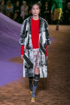 A look from the Prada Spring 2015 RTW collection.