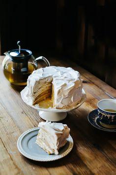 Coconut Cream Crepe Cake via Hummingbird High - A Desserts and Baking Food Blog in Portland, Oregon