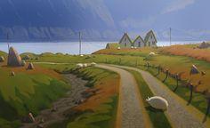 Iceland #03, Szymon Biernacki on ArtStation at http://www.artstation.com/artwork/iceland-03