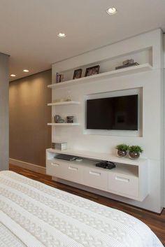 Cheap Home Decorating Sites Tv Unit Decor, Tv Wall Decor, Tv Cabinet Design, Tv Wall Design, Bedroom Tv Wall, Bedroom Decor, Tv Unit Furniture, Tv Unit Interior Design, Living Room Tv Unit Designs