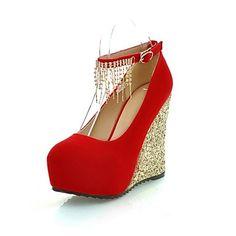 Wedge les cales de talon de suède de pompes de femmes / talons avec strass chaussures (plus de couleurs) – EUR € 42.97