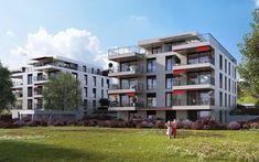 Zwei Punkthäuser unter optimaler Ausnützung der Topographie - m3 Architekten Zürich Multi Story Building, Mansions, House Styles, Home Decor, Architects, Projects, Decoration Home, Manor Houses, Room Decor