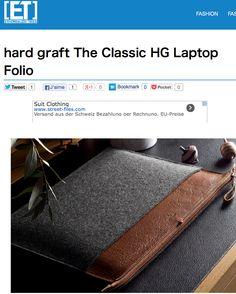 """""""Hard Graft The Classic HG Laptop Folio"""" ETHEREALIZM.COM"""