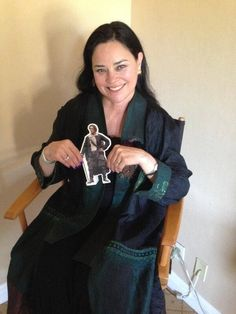 Herself with her very own Pocket Jamie!