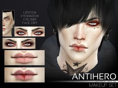 Antihero Makeup Set http://thesimsresource.com/downloads/details/category/sims4-sets-makeup/title/antihero-makeup-set/id/1335785/