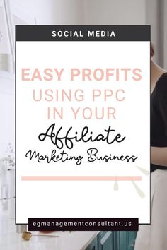 CHECK OUT HOW TO MAKE EASY PROFITS USING PPC IN YOUR AFFILIATE MARKETING BUSINESS! EGM Consultant - Blogger, WordPress Expert, Web Designer, Techy Girl. I work with family focused entrepreneurs who run a business from home who struggle with keeping up with new digital marketing strategies #business #egmconsultant #affiliatemarketing #onlinebusiness #businessstrategy