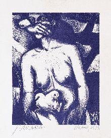 JOÃO CÂMARA-Natal litografia-1983
