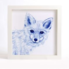FOX ART PRINT - Curious Fox Watercolor Painting, Blue Fox Fine Art Print, Chinoiserie Art, Indigo blue animal drawing, Asian wall decor. A lovely reproduction of my original watercolor painting CURIOUS FOX. This blue and white art print will bring a little elegance and interest to your home or office. I love the expression on the curious animals, so I paint a series of curious animal with blue and white color, I would like the paintings see like the Chinese blue and white porcelain. I...