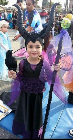 Malificent costume - My niece Angelica's costume was 100% handmade.