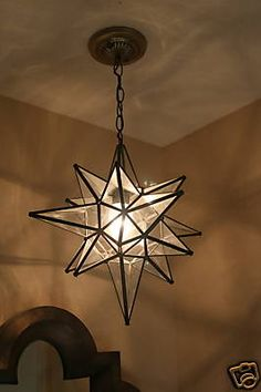Star Clear Glass Chandelier Ive wanted one of these for over a