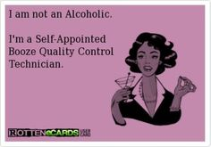 I'm not an alcoholic...