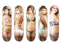 Skate Upton Lets You Ride the World's Hottest Model #skateboards #girly trendhunter.com