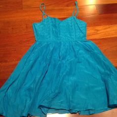 Blue flowy sundress Cute for the beach! Forever 21! Super comfy too Forever 21 Dresses