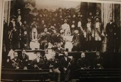 There Has Been a theatre In Perth Since the middle eighteenth century. In this photograph Rob Roy Company are posing at the end of a production in the present theatre, which was opened in 1900.