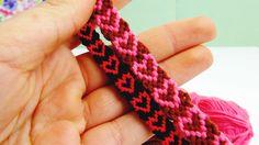 Herz-Armband   Herzchen Knüpfarmband. Freundschaftsarmband selber machen…