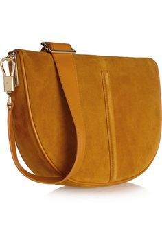 Elizabeth and James   Scott Moon small suede and leather shoulder bag   NET-A-PORTER.COM