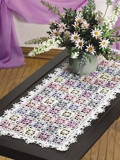 Ravelry: Dappled Blossoms Table Runner pattern by Carol Alexander