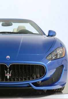 Baby blue #Maserati Gran Turismo Convertible. Click to see more exquisite photos... #spon
