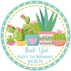 Pink Cactus Succulent Birthday Party Favor Tags or Label Stickers, Cactus Succulent Party Favor, Cactus Party Favor Hang Tags, Cactus Birthday Party Decorations, Cactus Party Decor Dinosaur Party Favors, Dinosaur Birthday Party, Birthday Party Favors, Birthday Parties, 1st Birthday Decorations, Party Favor Tags, Baby Shower Favors, Sticker Paper, Card Stock