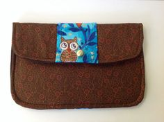 Clutch Purse Observant Owl Fall Floral in by joliefemmebydiana