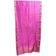 India Sari Curtains Pink Saree Drapes Window Treatment ($50) ❤ liked on Polyvore featuring home, home decor, window treatments, curtains, pink curtains, pink window treatments, indian home decor, pink home decor and india home decor