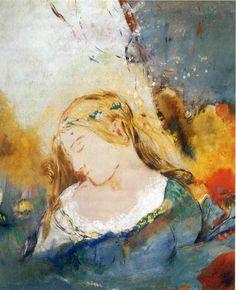 "Odilon Redon, ""Ophelia,"" Pastel, ca. 1900."