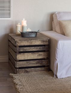 I am in love with these side tables!!