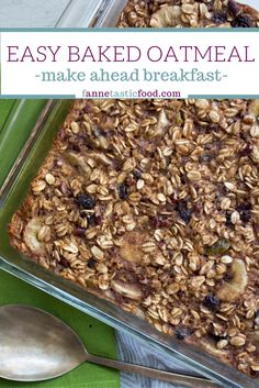 Easy Baked Oatmeal -