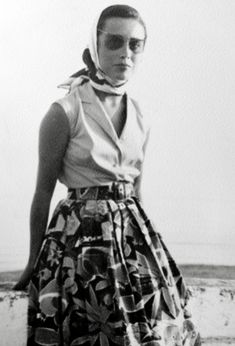 "Sartorialist featuring vintage photos from readers:  ""This is my mother, Carmela, during the summer of 1956 at the age of 23, in Marbella in the south of Spain.""  - Luis"