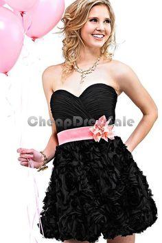 Short Strapless Sweetheart Homecoming Dress QAS058