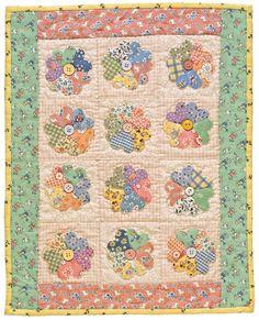 Feedsack Flower Garden quilt by Kathleen Tracy