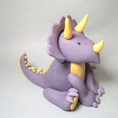 Gumpaste Triceratops Cake Topper