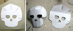 The template meant that the skull mask would work well even if the paper mache layers were not very thick or even. Description from madebytoya.wordpress.com. I searched for this on bing.com/images