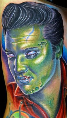 Zombie Elvis, Done by: Mike Devries
