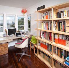 alissa & keith's office in their silverlake home, on design sponge.
