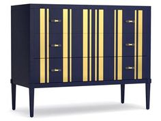 Parker Striped Chest by Cynthia Rowley for Hooker Furniture