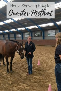 Learn the basics of the showmanship set-up with this step-by-step breakdown of the quarter method for horse shows.
