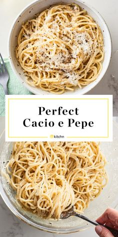 How to Make Cacio e Pepe: The Easiest Method for Perfect Results Every Time. Use gluten free spaghetti. Pasta Recipes, Dinner Recipes, Cooking Recipes, Recipe Pasta, Cooking Ideas, Yummy Recipes, Chicken Recipes, Cacio E Pepe Recipe, Al Dente