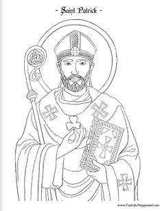 St Patrick Coloring Page. Isn't it adorable? Saint