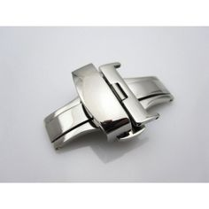 Polished Steel Deployment Buckle For 16MM or 18MM Strap